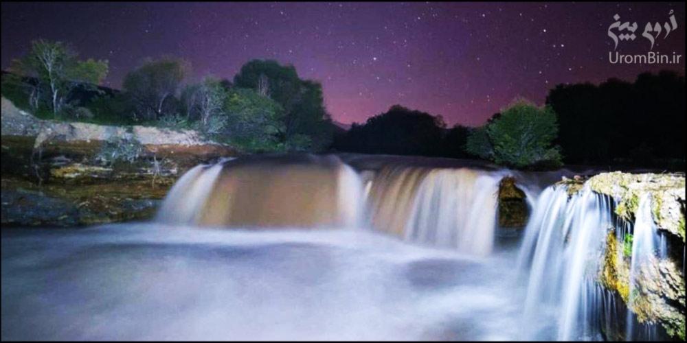 آبشار-باراندور-هنگام-شب