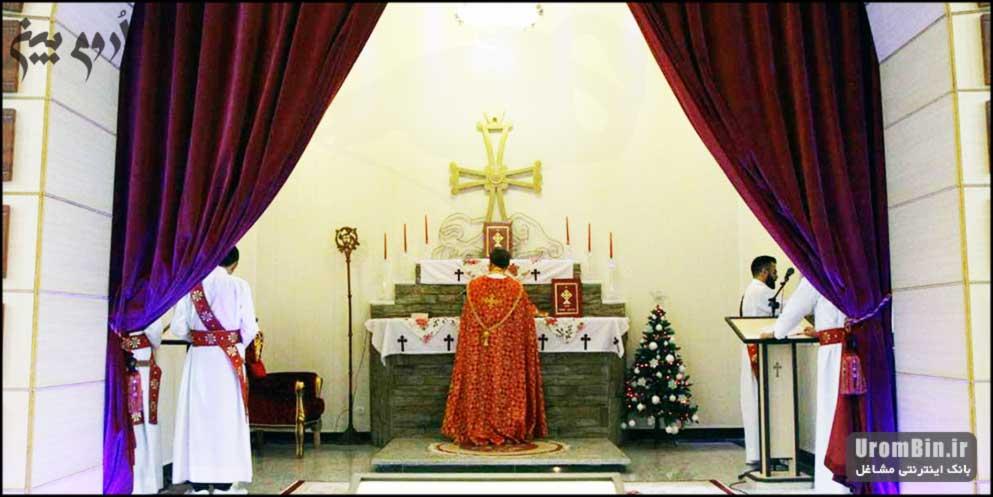 داخل کلیسای ننه مریم